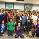 P.J. Hoover with the Mansfield Book Club