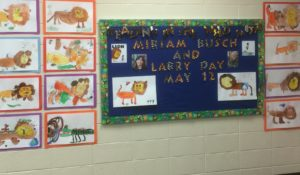 Miriam Busch and Larry Day at Western Trails Elementary in Carol Stream, IL