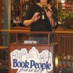 Liz Garton Scanlon speaking at BookPeople