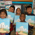 Young readers with Liz Garton Scanlon's Caldecott Honor picture book ALL THE WORLD